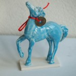 Blue Glazed Horse