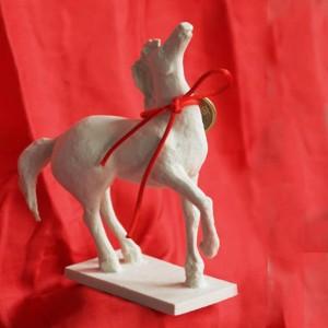 White Matt Horse
